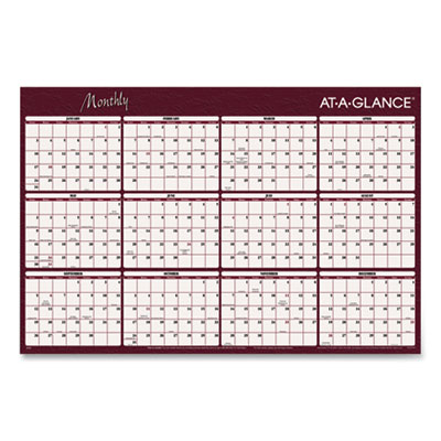 AT-A-GLANCE® Reversible Horizontal Erasable Wall Planner