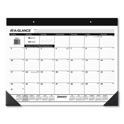 AT-A-GLANCE® Monthly Refillable Desk Pad