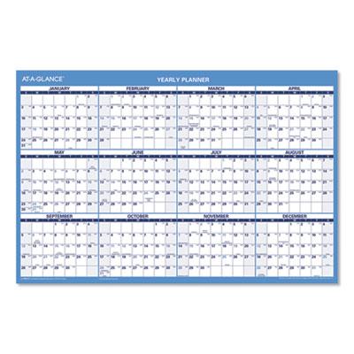 AT-A-GLANCE® Horizontal Erasable Wall Planner