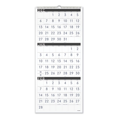 AT-A-GLANCE® Contemporary Three-Month Reference Wall Calendar