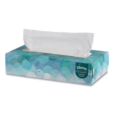 White Facial Tissue, 2-Ply, White, Pop-Up Box, 100 Sheets/Box