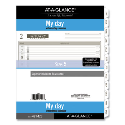 AT-A-GLANCE® 1-Page-Per-Day Planner Refills
