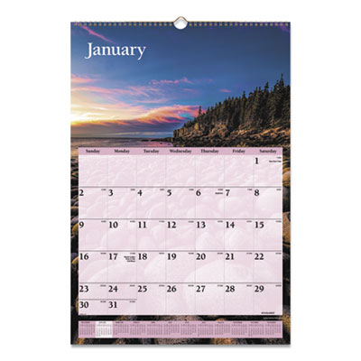 AT-A-GLANCE® Scenic Monthly Wall Calendar