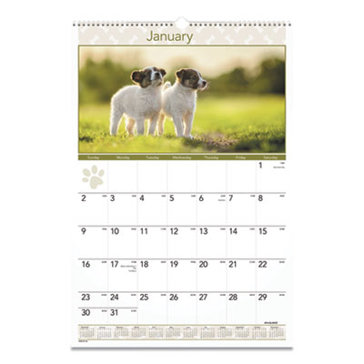 AT-A-GLANCE® Puppies Monthly Wall Calendar