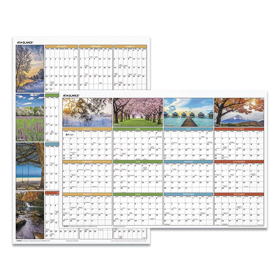 """AT-A-GLANCE® """"Seasons in Bloom"""" Vertical/Horizontal Erasable Wall Planner"""