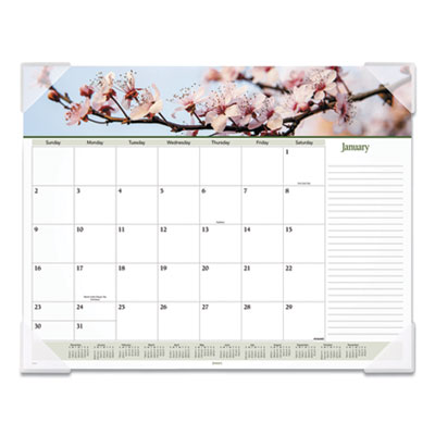 AT-A-GLANCE® Floral Panoramic Desk Pad