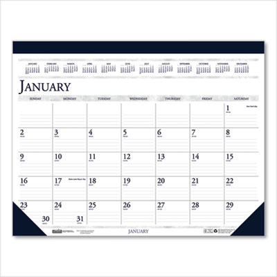 House of Doolittle(TM) 100% Recycled Two-Color Dated Monthly Desk Pad Calendar
