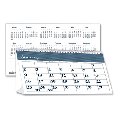 House of Doolittle™ Bar Harbor 100% Recycled Desk Tent Monthly Calendar