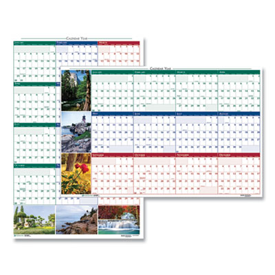 House of Doolittle(TM) Earthscapes(TM) 100% Recycled Nature Scenes Reversible/Erasable Yearly Wall Calendar