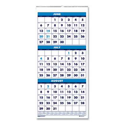 House of Doolittle(TM) 100% Recycled Three-Month Format Wall Calendar