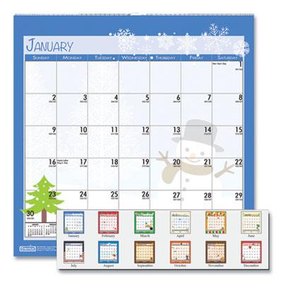 House of Doolittle(TM) 100% Recycled Seasonal Wall Calendar