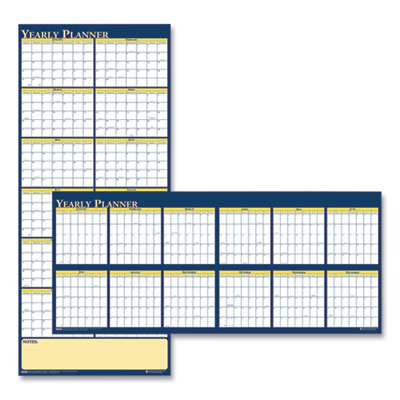 House of Doolittle™ 100% Recycled Reversible Yearly Wall Planner