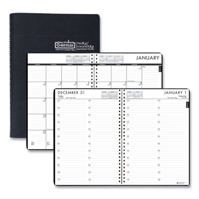 House of Doolittle™ 24/7 100% Recycled Daily Appointment Book/Monthly Planner