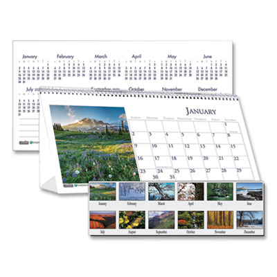House of Doolittle™ Earthscapes™ 100% Recycled Scenic Desk Tent Monthly Calendar with Photos