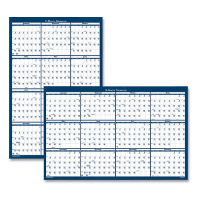 House of Doolittle™ 100% Recycled Yearly Reversible Wall Calendar Non-Laminated