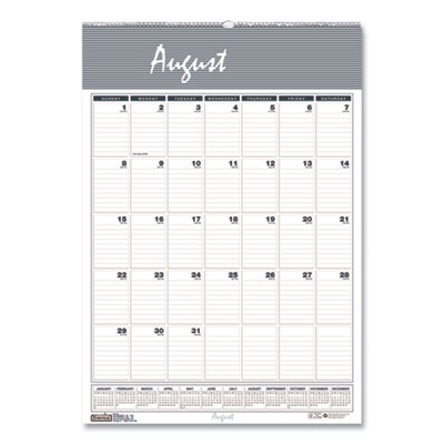 House of Doolittle(TM) Bar Harbor 100% Recycled Wirebound Monthly Wall Calendar