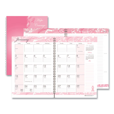 House of Doolittle™ Breast Cancer Awareness 100% Recycled Ruled Monthly Planner/Journal