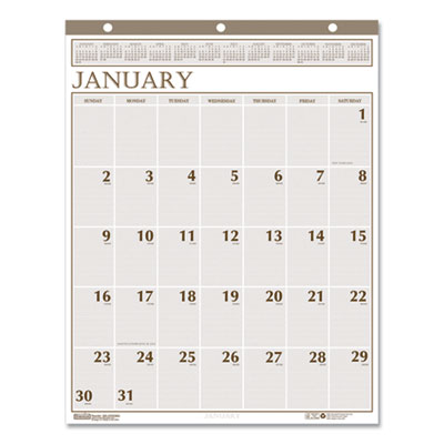 House of Doolittle™ Large Print 100% Recycled Monthly Wall Calendar