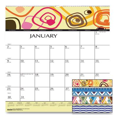 House of Doolittle™ 100% Recycled Geometric Wall Calendar
