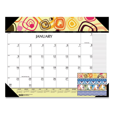 House of Doolittle™ 100% Recycled Geometric Desk Pad Calendar