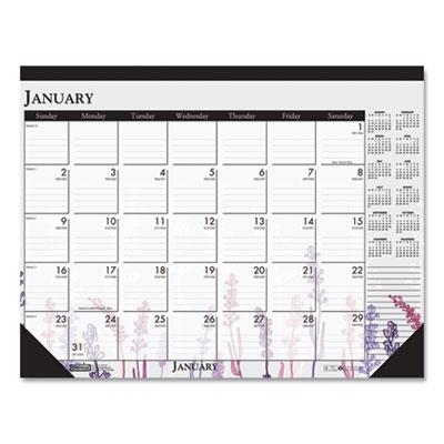 House of Doolittle™ 100% Recycled Wild Flower Desk Pad Calendar