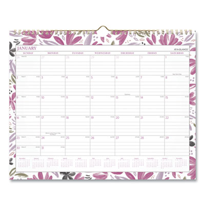 AT-A-GLANCE® Badge Floral Wall Calendar