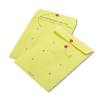 Quality Park(TM) Colored Paper String & Button Interoffice Envelope