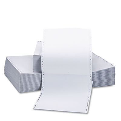 Universal® Two-Part Carbonless Paper, 15lb, 9-1/2 x 11, Perforated, White, 1650 Sheets - UNV15703