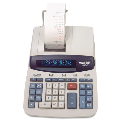 2640-2 Two-Color Printing Calculator, Black/Red Print, 4.6 Lines/Sec | by Plexsupply