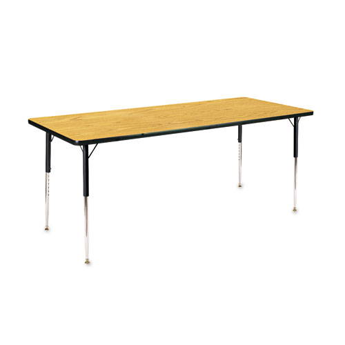 Virco® 4000 Series Rectangular Activity Table, 36w x 36d x 30h, Medium Oak/Chrome