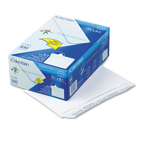 Invitation & Greeting Card Envelope, A-9, Monarch Flap, Self-Adhesive Closure, 5.75 x 8.75, White, 100/Box | by Plexsupply