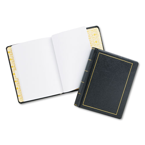 Wilson jones - looseleaf minute book, black leather-like cover, 125 pages, 8 1/2 x 11, sold as 1 ea