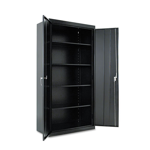 Assembled 72 High Storage Cabinet, w/Adjustable Shelves, 36w x 18d, Black