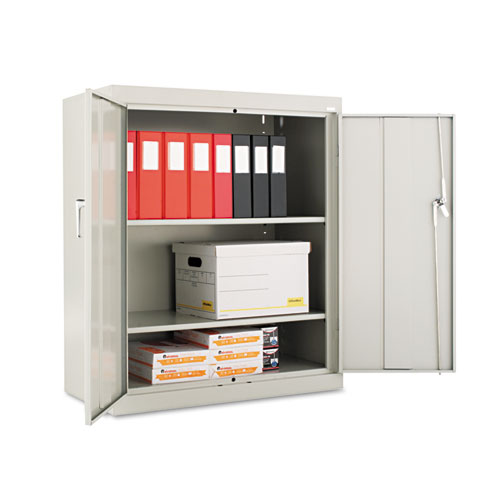 Assembled 42 High Storage Cabinet, w/Adjustable Shelves, 36w x 18d, Light Gray