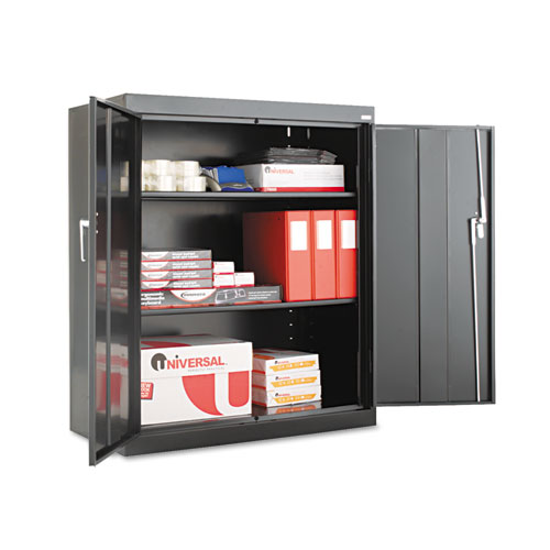 Assembled 42 High Storage Cabinet, w/Adjustable Shelves, 36w x 18d, Black