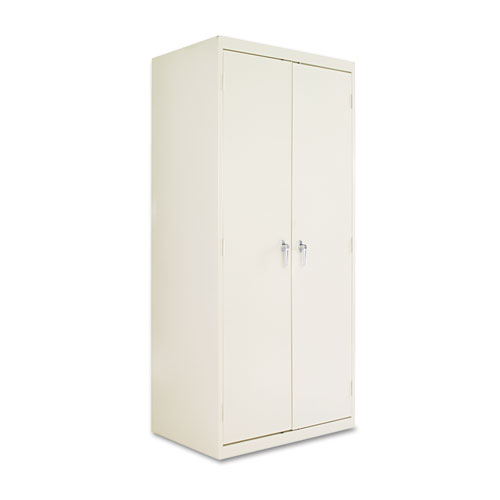 Assembled 78 High Storage Cabinet, w/Adjustable Shelves, 36w x 24d, Putty