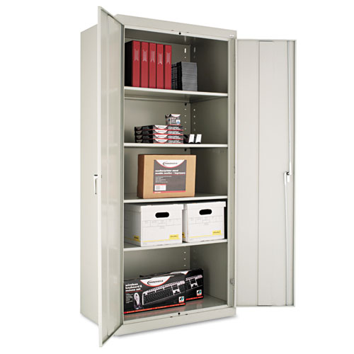 Assembled 78 High Storage Cabinet, w/Adjustable Shelves, 36w x 24d, Light Gray