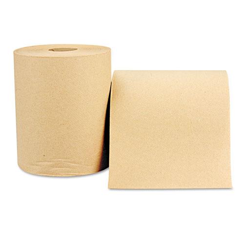 Hardwound Roll Towels, 8 x 800 ft, Natural, 12 Rolls/Carton
