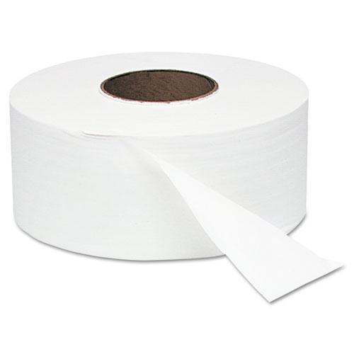 "Jumbo Roll Bath Tissue, Septic Safe, 2 Ply, White, 3.4"" x 1000 ft, 12 Rolls/Carton"
