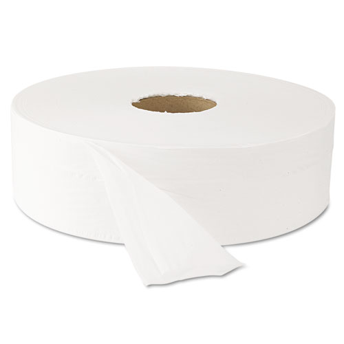"Jumbo Roll Bath Tissue, Septic Safe, 2 Ply, White, 3.5"" x 2000 ft, 6 Rolls/Carton"