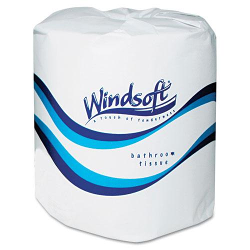 Windsoft® Single Roll Two Ply Premium Bath Tissue, 24 Rolls/Carton