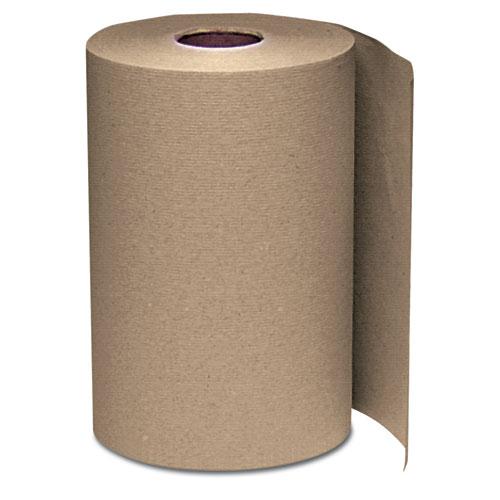Hardwound Roll Towels, 8 x 350 ft, Natural, 12 Rolls/Carton