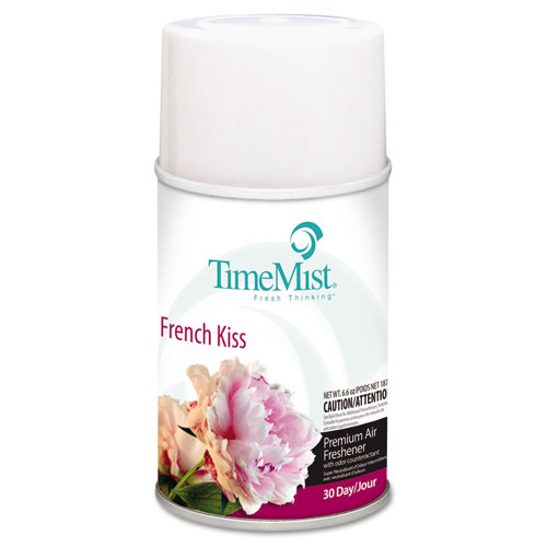 TimeMist® Premium Metered Air Freshener Refill, French Kiss, 6.6 oz Aerosol, 12/Carton