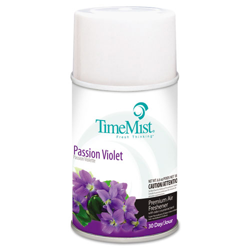Premium Metered Air Freshener Refill, Passion Violet, 6.6 oz Aerosol, 12/Carton