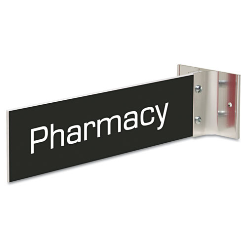 Custom Engraved Hallway Sign, 2x10, Silver Holder