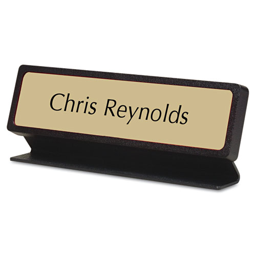 Custom Desk/Counter Sign, 2x8, Black Designer Frame