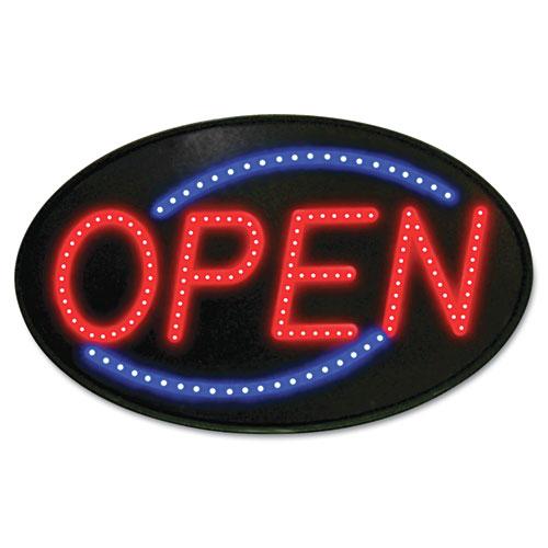 Newon® Newon LED Sign, Red/Blue, 13 x 21