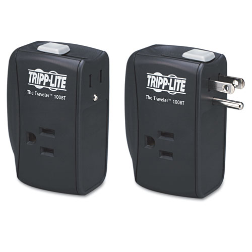Protect It Portable Surge Protector, 2 Outlets, Direct Plug-In, 1050 Joules