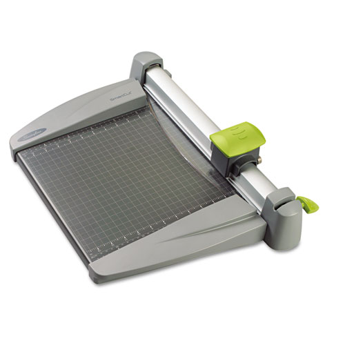 SmartCut Commercial Heavy-Duty Rotary Trimmer, 30 Sheets, Metal Base, 12 x 22 | by Plexsupply