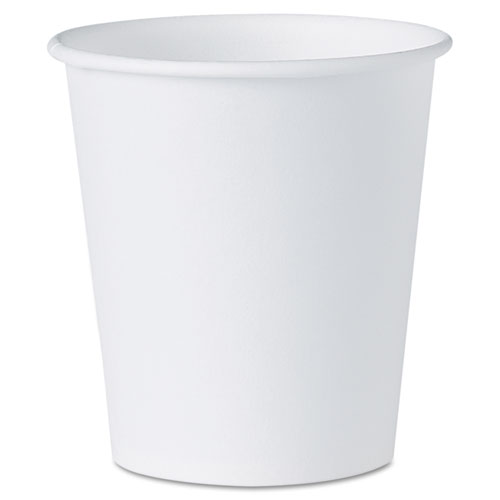 White Paper Water Cups, 3oz, 100/Pack | by Plexsupply